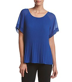 Relativity® Chiffon Pleated Tee