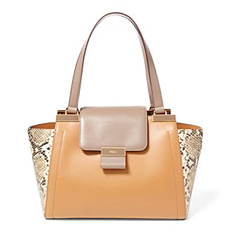 ... (Caramel/Truffle UPC 888188290020 product image for Lauren Ralph Lauren®  Lynwood Medium Leather Shopper | upcitemdb.