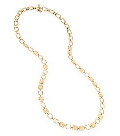 Robert Lee Morris Soho™ Goldtone Square Link Long Necklace