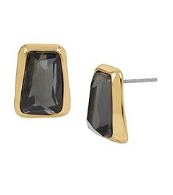 Robert Lee Morris Soho™ Goldtone Faceted Stone Stud Earrings