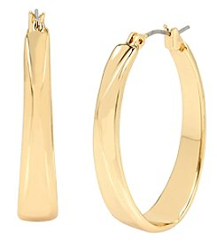 Robert Lee Morris Soho™ Goldtone Sculptural Oval Hoop Earrings