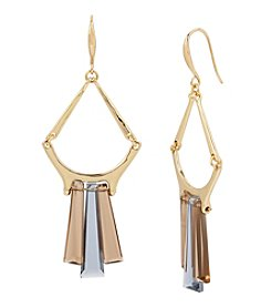 Robert Lee Morris Soho™ Goldtone Faceted Stone Chandelier Earrings