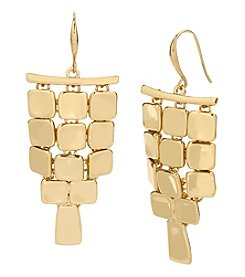 Robert Lee Morris Soho™ Goldtone Square Chandelier Earrings