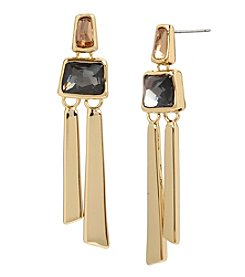 Robert Lee Morris Soho™ Goldtone Mixed Faceted Stone Stick Linear Earrings