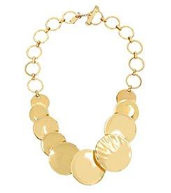 Robert Lee Morris Soho™ Goldtone Disc Frontal Necklace