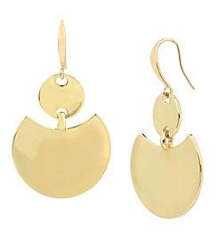 Robert Lee Morris Soho™ Goldtone Geometric Double Disc Drop Earrings