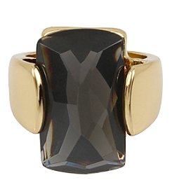 Robert Lee Morris Soho® Goldtone Faceted Stone Sculptural Ring
