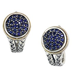Effy® 925 Collection Sapphire Earrings In Sterling Silver