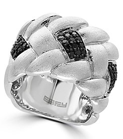 Effy® 925 Collection 0.43 Ct t.w. Black Diamond Ring In Sterling Silver