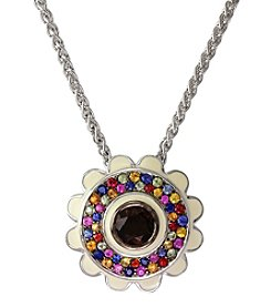 Effy® 925 Collection Smoky Quartz And Sapphire Pendant In Sterling Silver