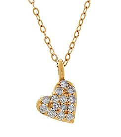 0.010 Ct Tw Diamond Pendant In 14K Yellow Gold