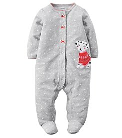 Carter's® Baby Girls' Holiday Puppy Footie