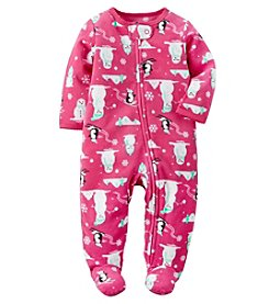 Carter's® Baby Girls' Penguin & Snowman Footie