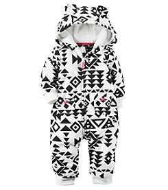 Carter's® Baby Girls' Hooded Geo Jumpsuit