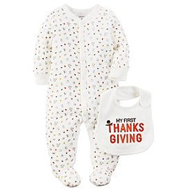 Carter's® Baby First Thanksgiving Footie With Bib