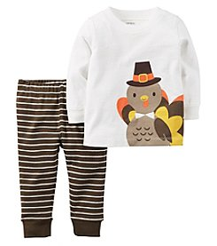 Carter's® Baby Boys 2-Piece Turkey Tee And Leggings Set