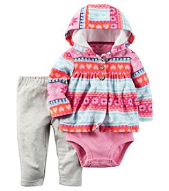 Carter's® Baby Girls' 3-Piece Fairisle Hoodie Set