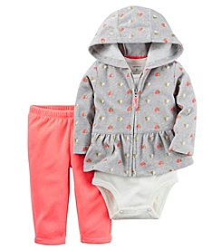 Carter's® Baby Girls' 3-Piece Heart Hoodie Set