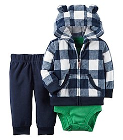 Carter's® Baby Boys 3-Piece Plaid Hoodie Set