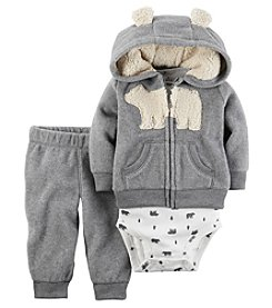 Carter's® Baby Boys 3-Piece Bear Hoodie Set