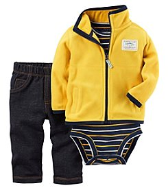 Carter's® Baby Boys 3-Piece Solid Fleece Set