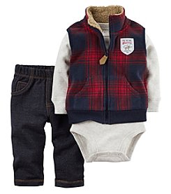 Carter's® Baby Boys' 3-Piece Plaid Vest Set