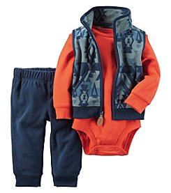Carter's® Baby Boys' 3-Piece Geo Vest Set