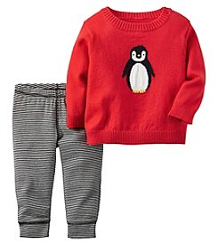 Carter's® Baby Boys 2-Piece Penguin Sweater And Pants Set