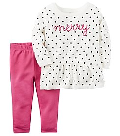 Carter's® Baby Girls' 2-Piece Merry Sweater And Leggings Set