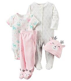 Carter's® Baby Girls' 4-Piece Reindeer Footie Set