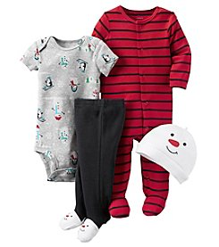 Carter's® Baby Boys 4-Piece Snowman Footie Set