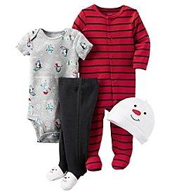 Carter's® Baby Boys 4-Piece Snowman Footie Set
