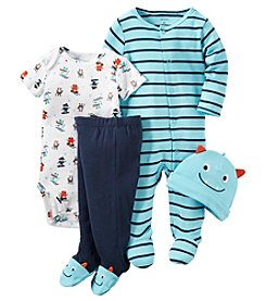 Carter's® Baby Boys 4-Piece Skiing Monsters Footie Set