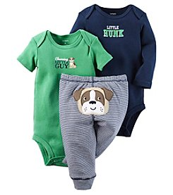 Carter's® Baby Boys 3-Piece Charming Little Guy Bodysuit Set