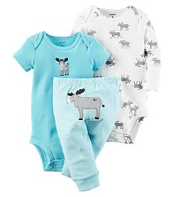 Carter's® Baby Boys 3-Piece Moose Bodysuit Set