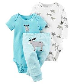 Carter's® Baby Boys 3-Piece Moose Bodysuit Set
