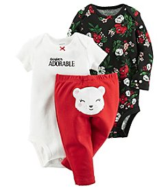 Carter's® Baby Girls' 3-Piece Super Adorable Bodysuit Set