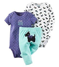 Carter's® Baby Girls' 3-Piece Little Cutie Bodysuit Set
