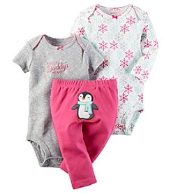 Carter's® Baby Girls' 3-Piece Melt Daddy's Heart Bodysuit Set