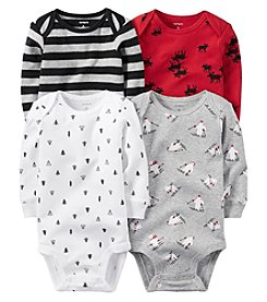 Carter's® Baby Boys 4-Pack Long Sleeve Holiday Bodysuits