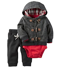 Carter's® Baby Boys 3-Piece Toggle Hoodie Set