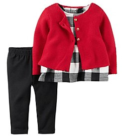Carter's® Baby Girls' 3-Piece Plaid Tunic Set