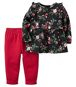 Carter's® Baby Girls' 2-Piece Floral Tunic And Leggings Set