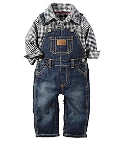 Carter's® Baby Boys 2-Piece Checked Shirt And Overalls Set