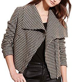Lauren Ralph Lauren® Houndstooth Funnelneck Jacket