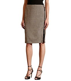 Lauren Ralph Lauren® Zip-Front Plaid Wool Skirt