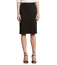 Lauren Ralph Lauren® Cotton Twill Pencil Skirt