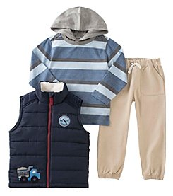 Kids Headquarters® Baby Boys 3-Piece Dig It! Vest Set
