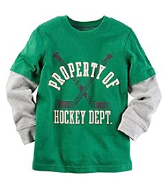 Carter's® Baby Boys Long Sleeve Layered Hockey Tee