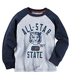 Carter's® Boys' 2T-4T Long Sleeve All-Star Tiger Tee